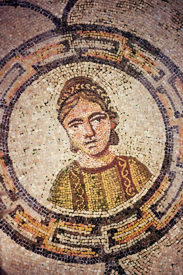 Podłogowy szczegół od bazyliki w Aquileia obrazy stock