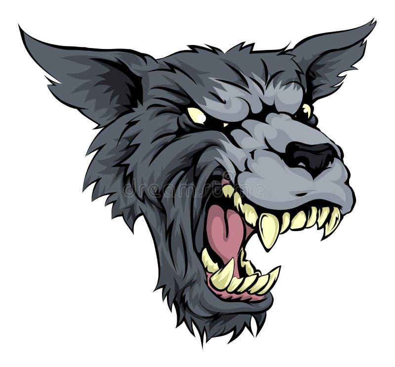 Podły wilk lub wilkołak ilustracji