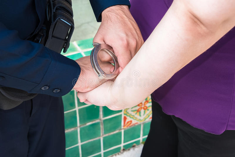 Pod aresztem obrazy stock