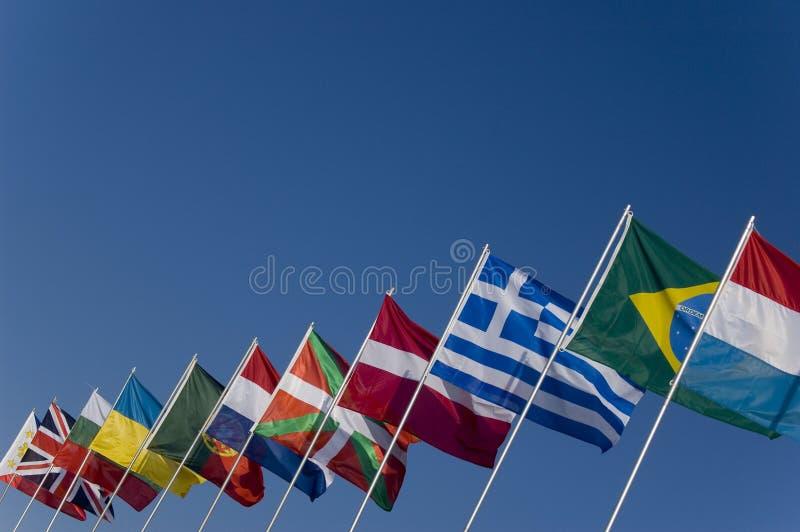 pod banderą kraju obrazy royalty free