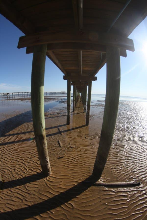 Pod boardwalk przy depresją wiążącą zdjęcie royalty free