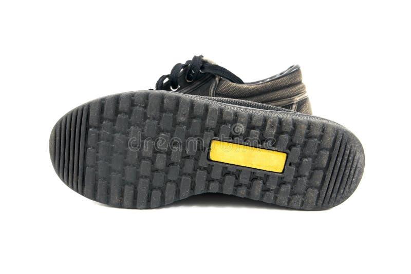 Pod chłopiec starej szkoły butami odizolowywającymi na białym tle Pod stara szkoła butami odizolowywającymi obrazy royalty free