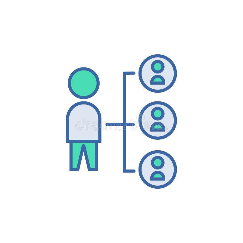 Pod??czeniowa ikona wektorowy planu i diagrama symbol płaska Podłączeniowa ikona ilustracja wektor