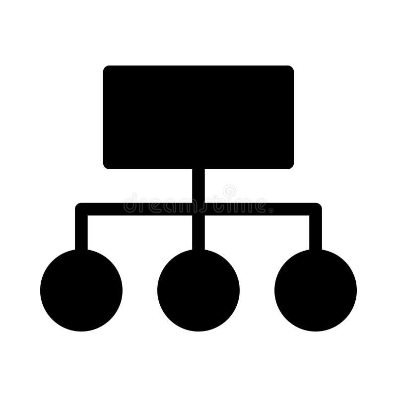 Pod??czeniowego glifu p?aska wektorowa ikona ilustracji