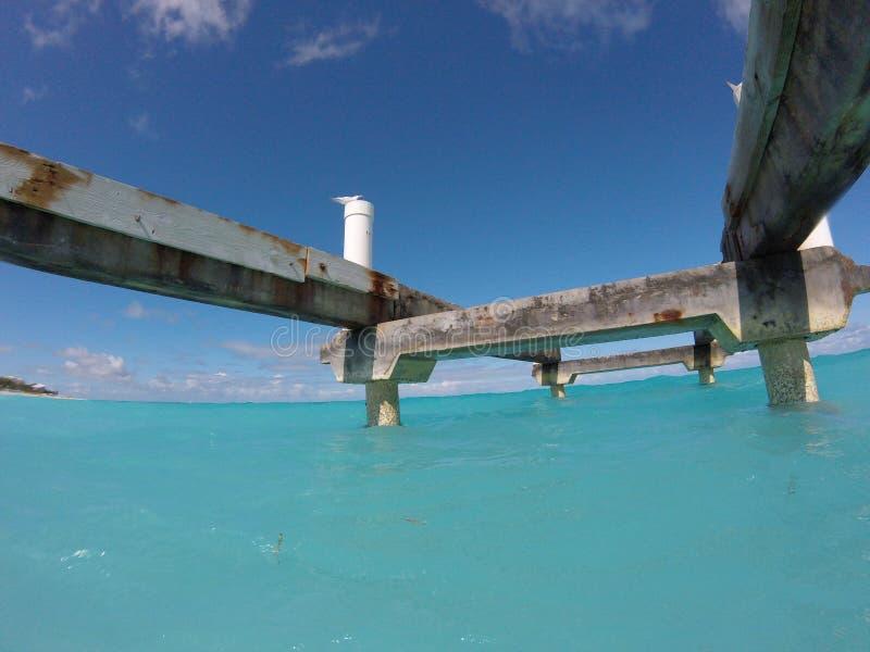 Pod doku widokiem w oceanie fotografia royalty free