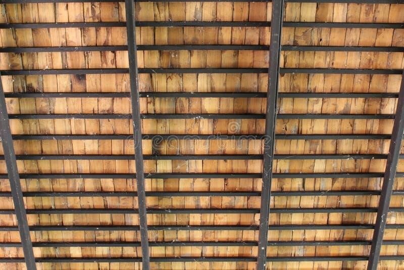 Drewniana dachowa struktura obraz royalty free