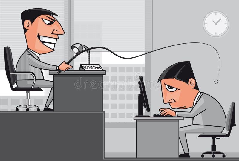 pod działaniem szefa nacisk ilustracja wektor