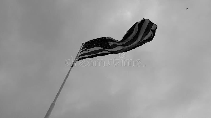 Pod flaga amerykańską fotografia stock