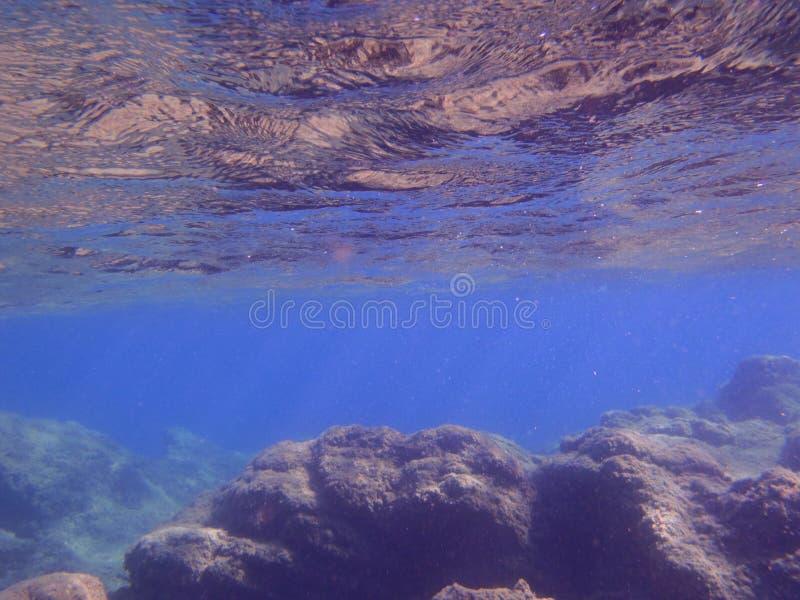 Pod morzem, jasny obrazy royalty free