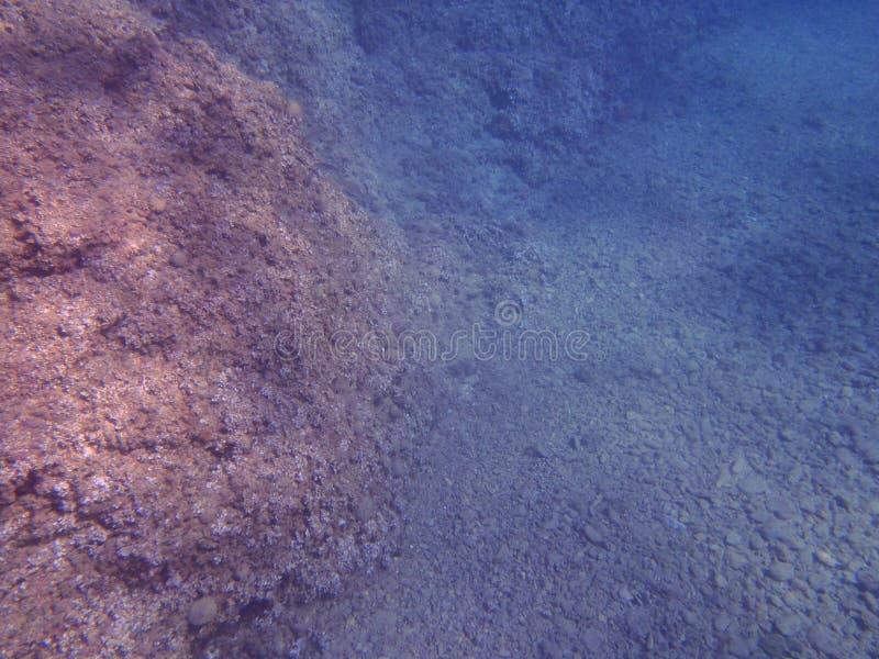 Pod morzem, jasny fotografia royalty free