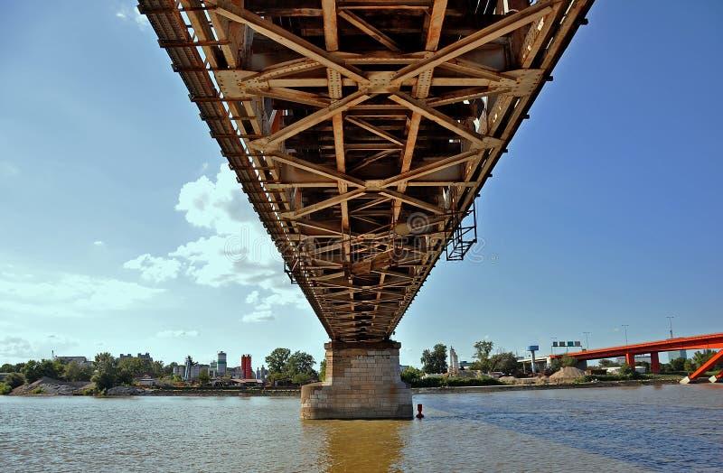 Pod mostem obraz stock