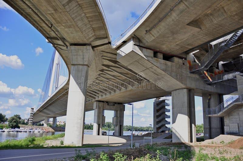 Pod mostem obrazy royalty free