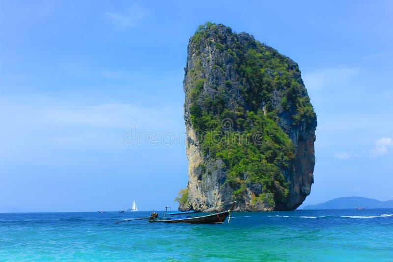 Poda ö i Krabi Thailand royaltyfria foton