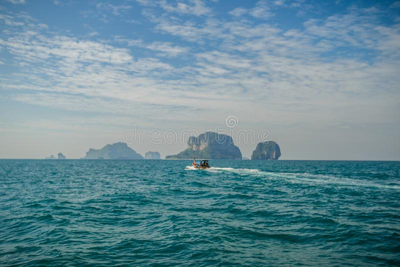Poda ö och hönaö i Krabi Thailand arkivfoton