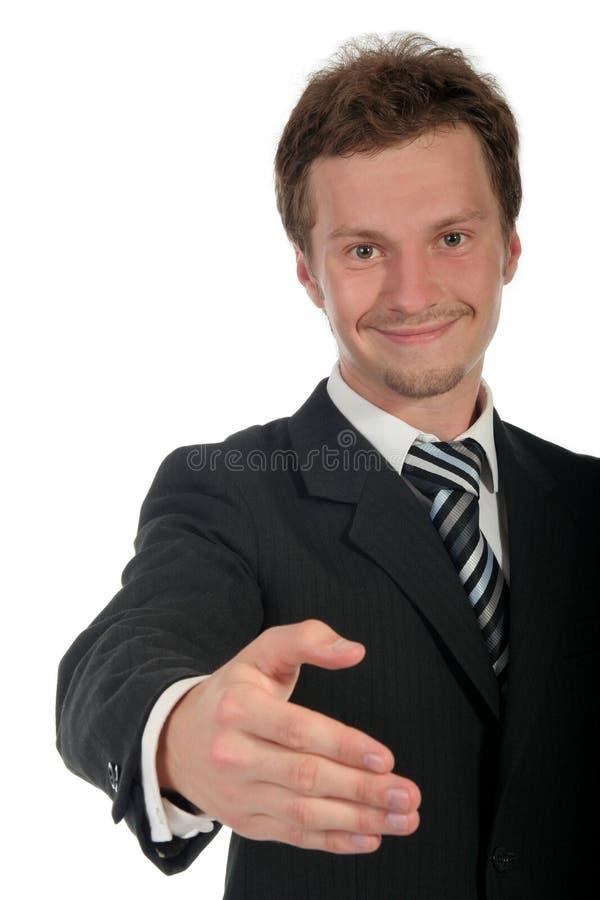 podaj biznesmen gotowy shake obraz stock