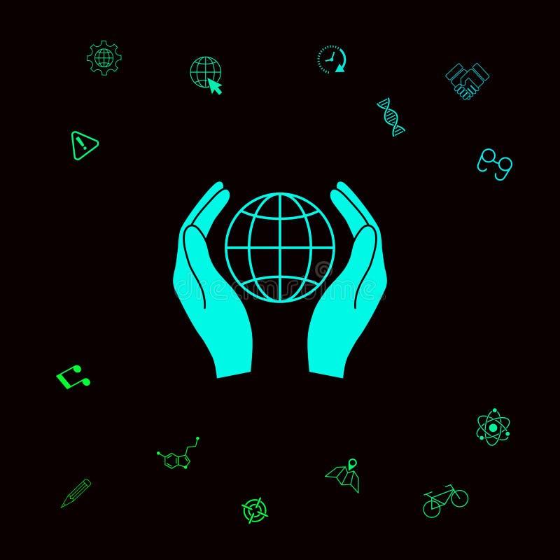 podaj gospodarstwa ziemi Gacenie ikona Graficzni elementy dla twój designt ilustracji