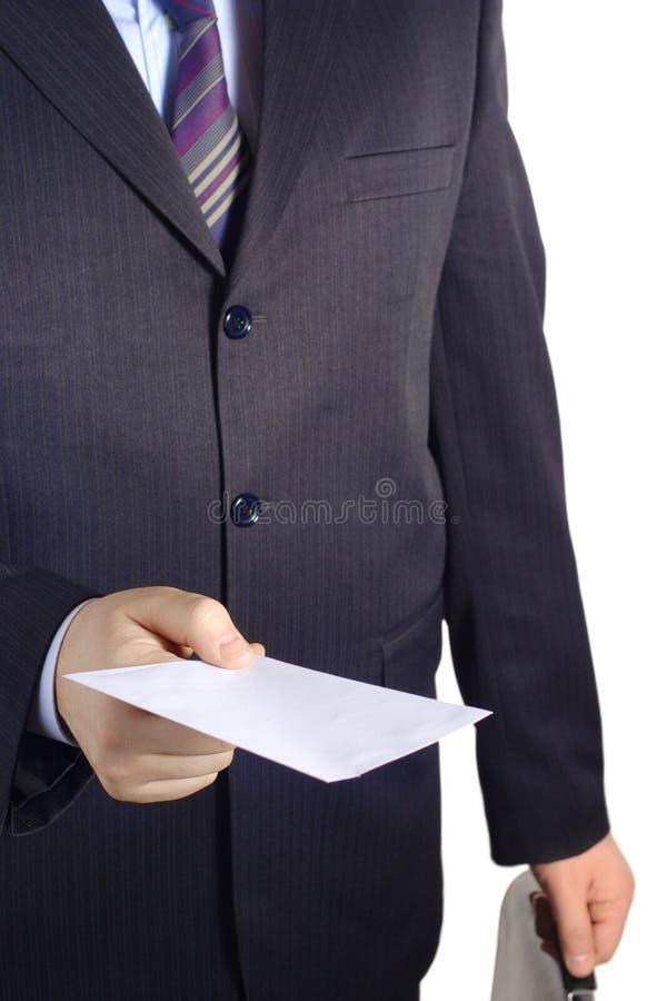 podaj list pusty biznesmen zdjęcia royalty free