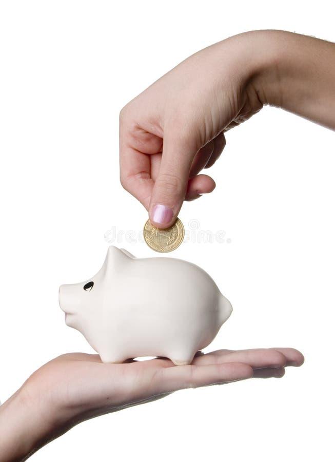 podaj moneybox obrazy stock