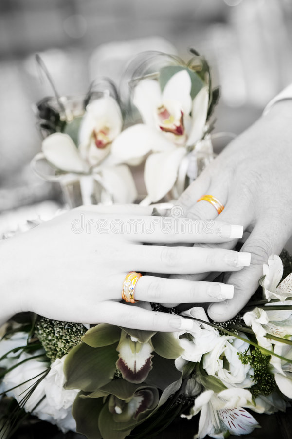 podaj z pierścieni dwa za biały obrazy royalty free