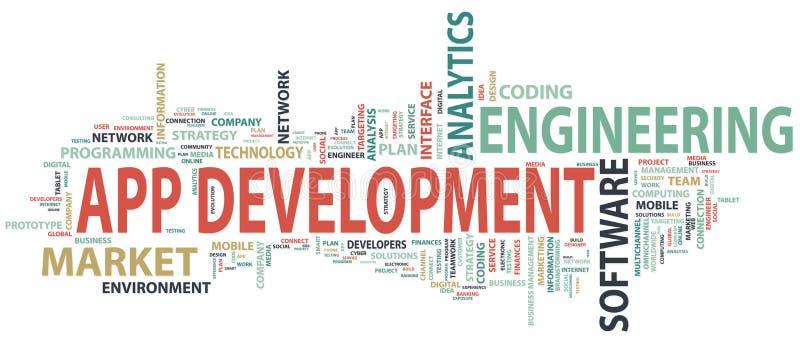 Podaniowego rozwoju sztandar Pojęcie budować pomyślnego biznes Typografia sztandar ilustracji