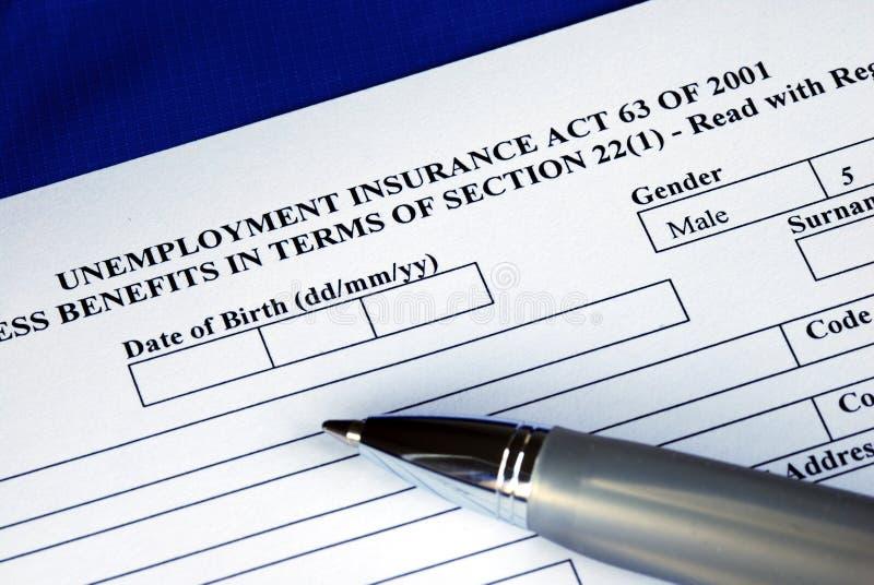 podaniowy podsadzkowy asekuracyjny bezrobocie zdjęcie stock