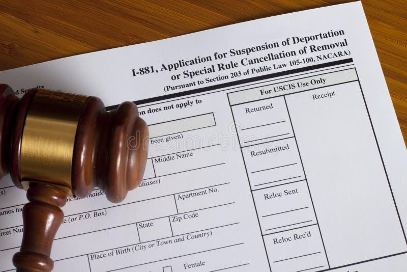 Podaniowy zawieszenie deportacja obraz royalty free