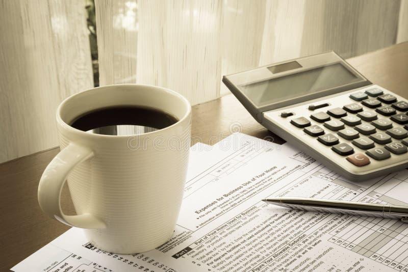 Podatek formy koszty dla biznesowego use twój dom obrazy royalty free