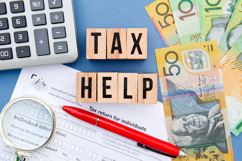 Podatek pomoc - Australia obraz royalty free