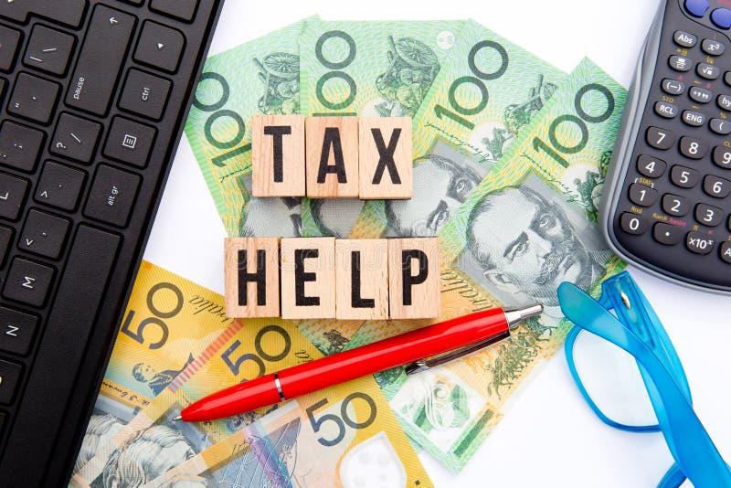 Podatek pomoc - Australia zdjęcia stock