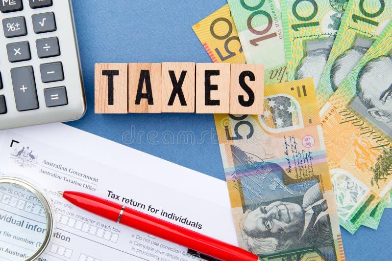 Podatki - Australia obrazy stock