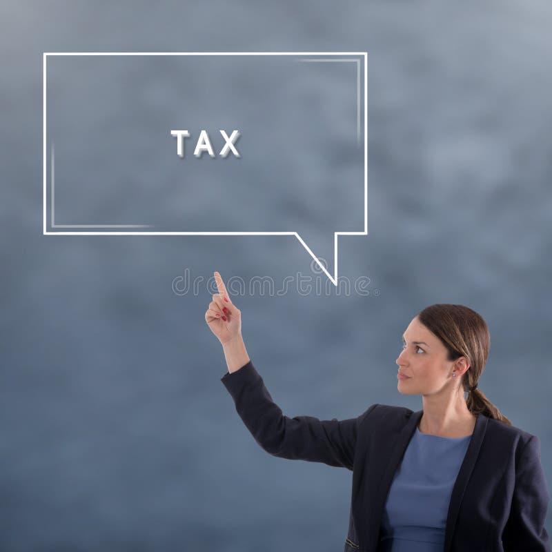 Podatku biznesu pojęcie kobieta jednostek gospodarczych obraz stock