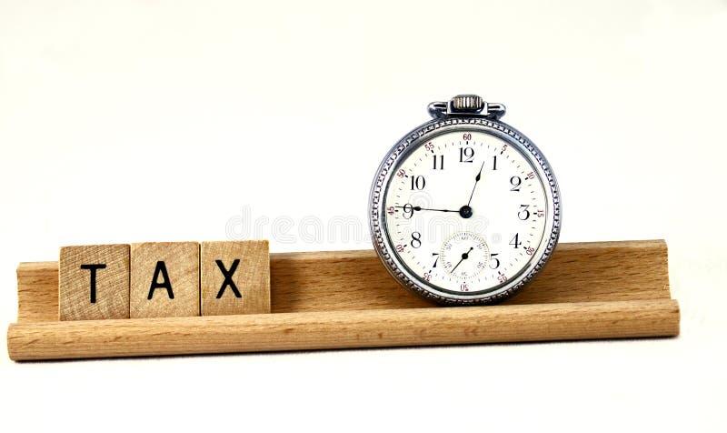 podatku czas obraz stock
