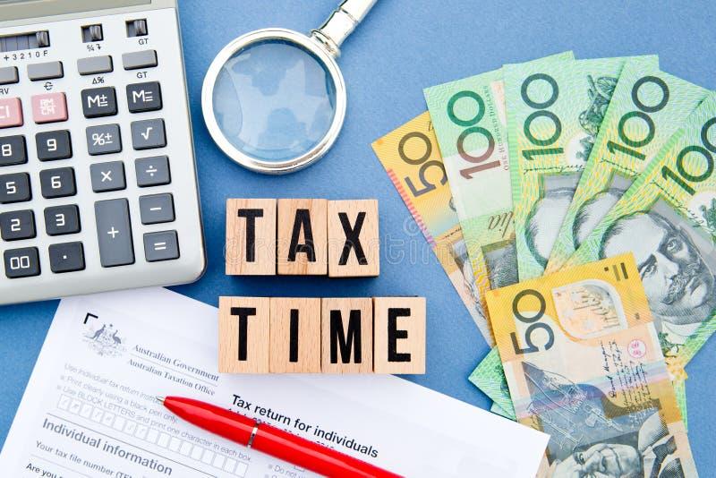 Podatku czas - Australia obraz stock