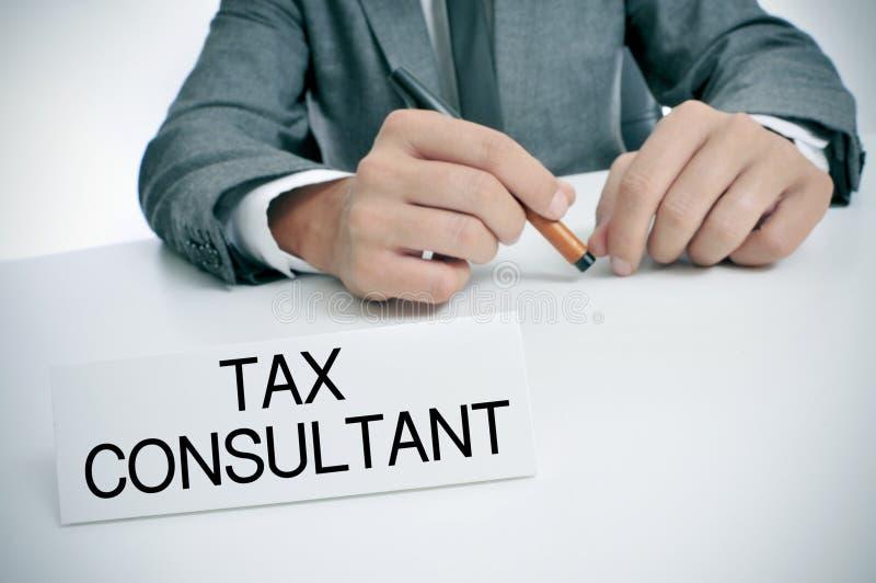 Podatku konsultant przy biurem zdjęcia royalty free