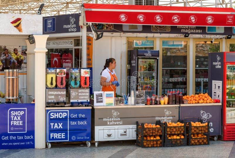 Podatku muzeum bezpłatny sklep wejściem antyczny Greco Romański miasto Hierapolis, Pamukkale, Turcja zdjęcia royalty free