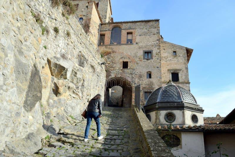 Podbieg, Bolsena, Vitrebo, Lazio, Włochy zdjęcia royalty free