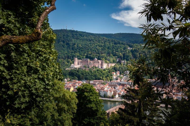 Podbieg filozofowie z widokiem Heidelberg kasztelu, Heidelberg, Baden-Wuerttemberg, Niemcy zdjęcie stock