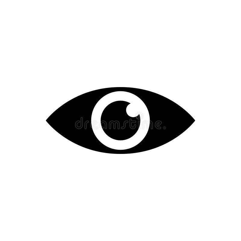 Podbite oko sylwetki ikona ilustracji