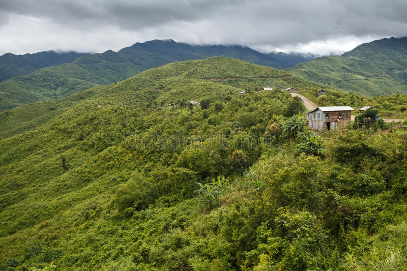 Podbródka stan, Myanmar obraz royalty free