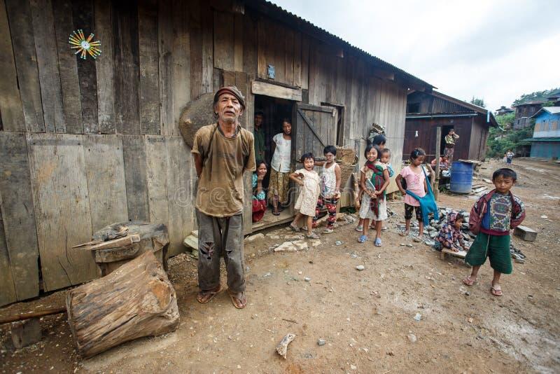 Podbródka stan, Myanmar zdjęcie stock