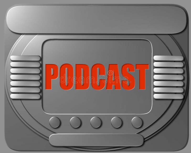 Podcast de panneau de commande de vaisseau spatial illustration stock