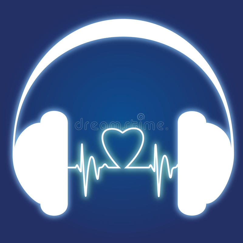 Podcast headphone logo vector illustration