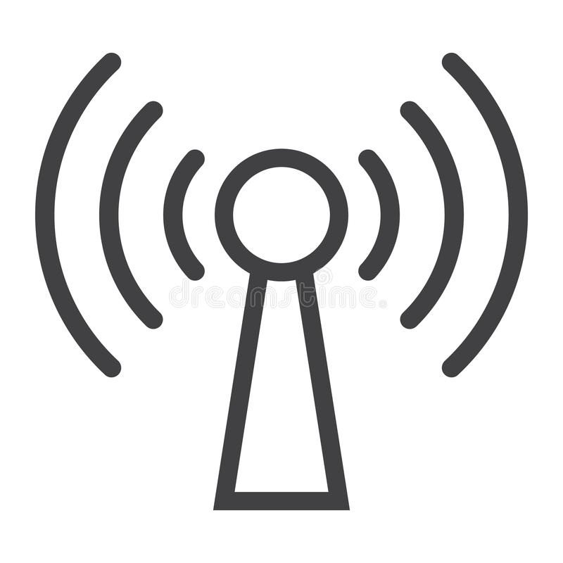 Podcast line icon, web and mobile, communication royalty free illustration