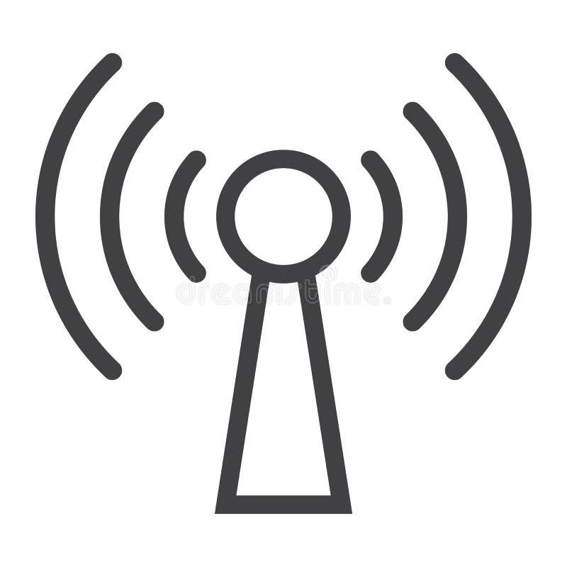 Podcast linjen symbol, rengöringsduken och mobilen, kommunikation royaltyfri illustrationer