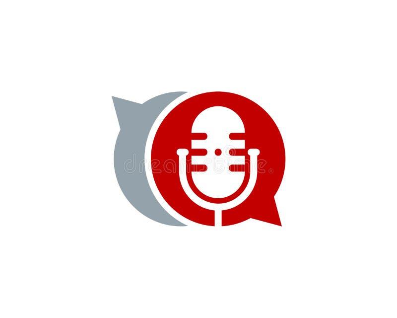 Podcast Logo Icon Design de causerie illustration libre de droits