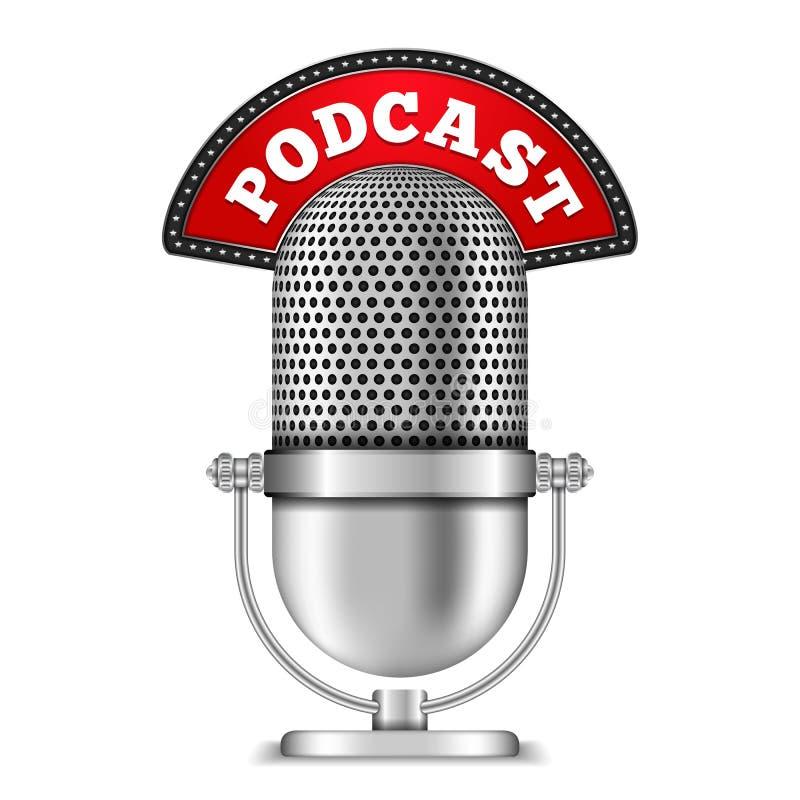 Podcast vector illustration