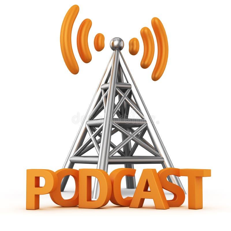 Podcast transmitter stock illustration