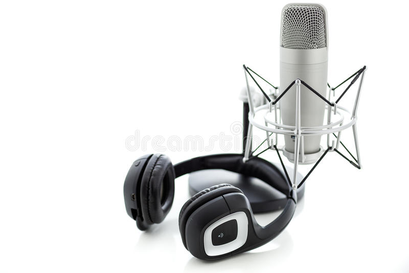 Podcasting στοκ φωτογραφίες με δικαίωμα ελεύθερης χρήσης