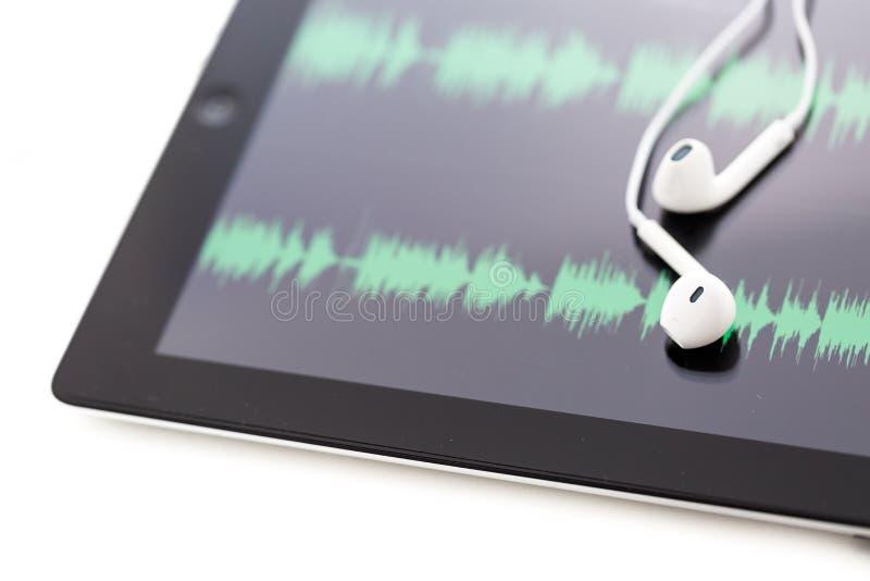 Podcasting στοκ φωτογραφία με δικαίωμα ελεύθερης χρήσης