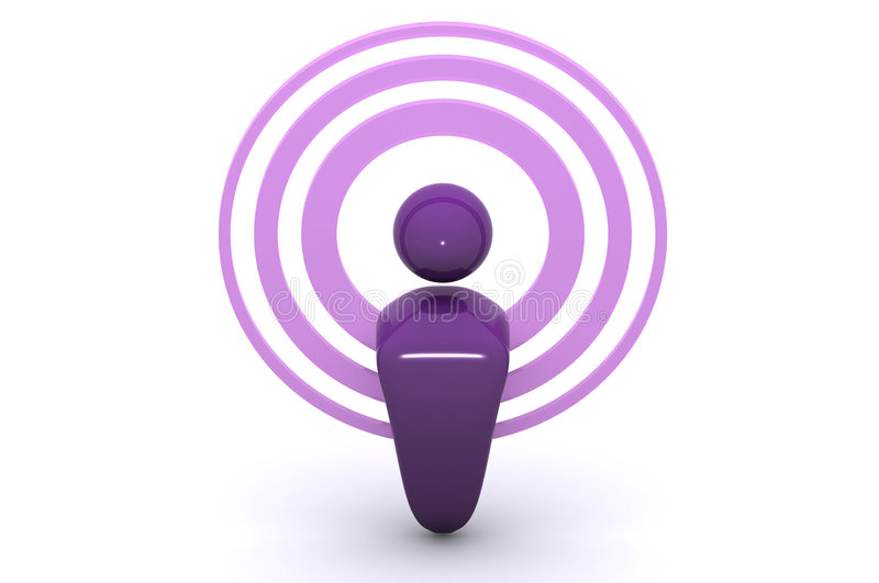 Podcasting / Wireless royalty free illustration